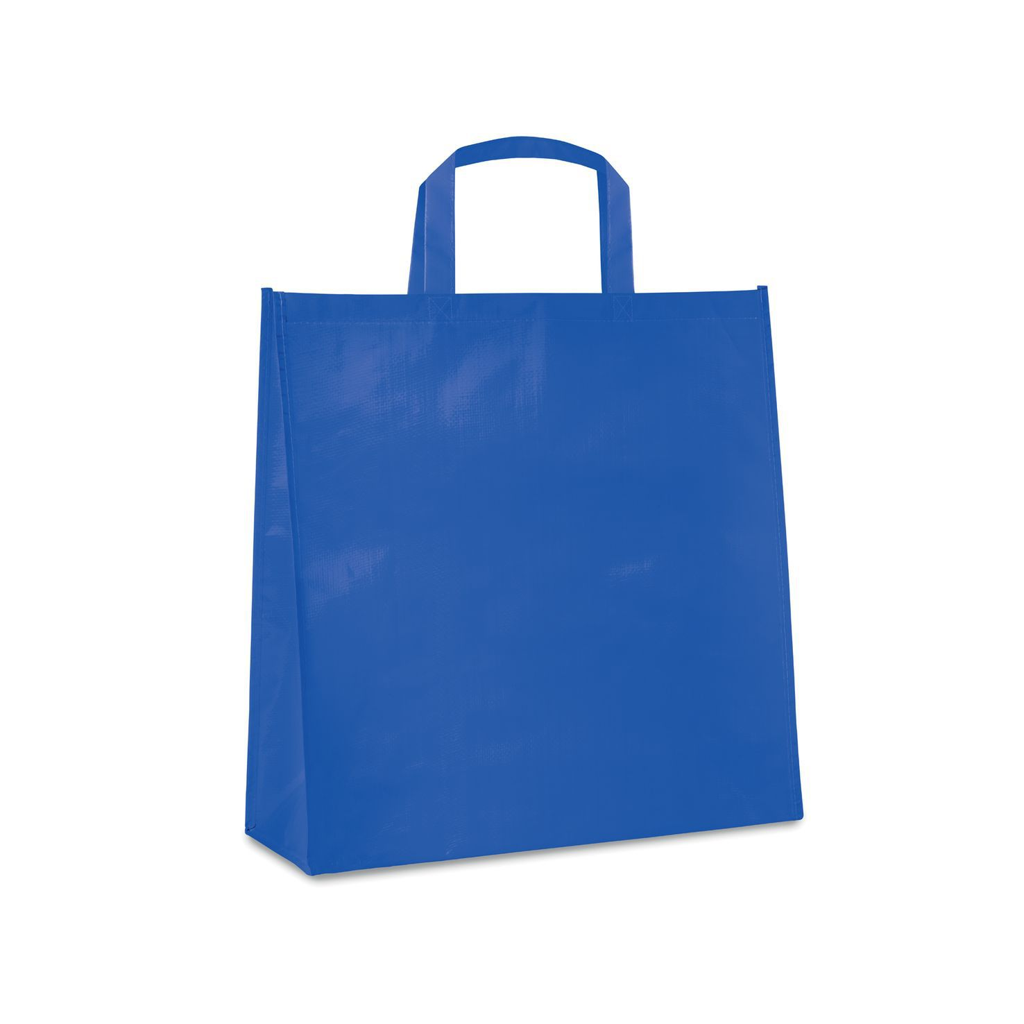 Koningsblauw Shopper | PP geweven | Gelamineerd | 120 grams