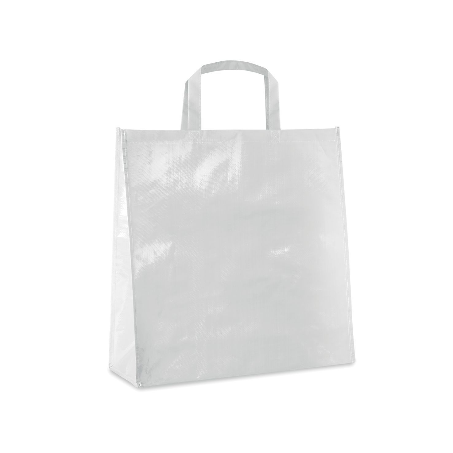 Witte Shopper | PP geweven | Gelamineerd | 120 grams