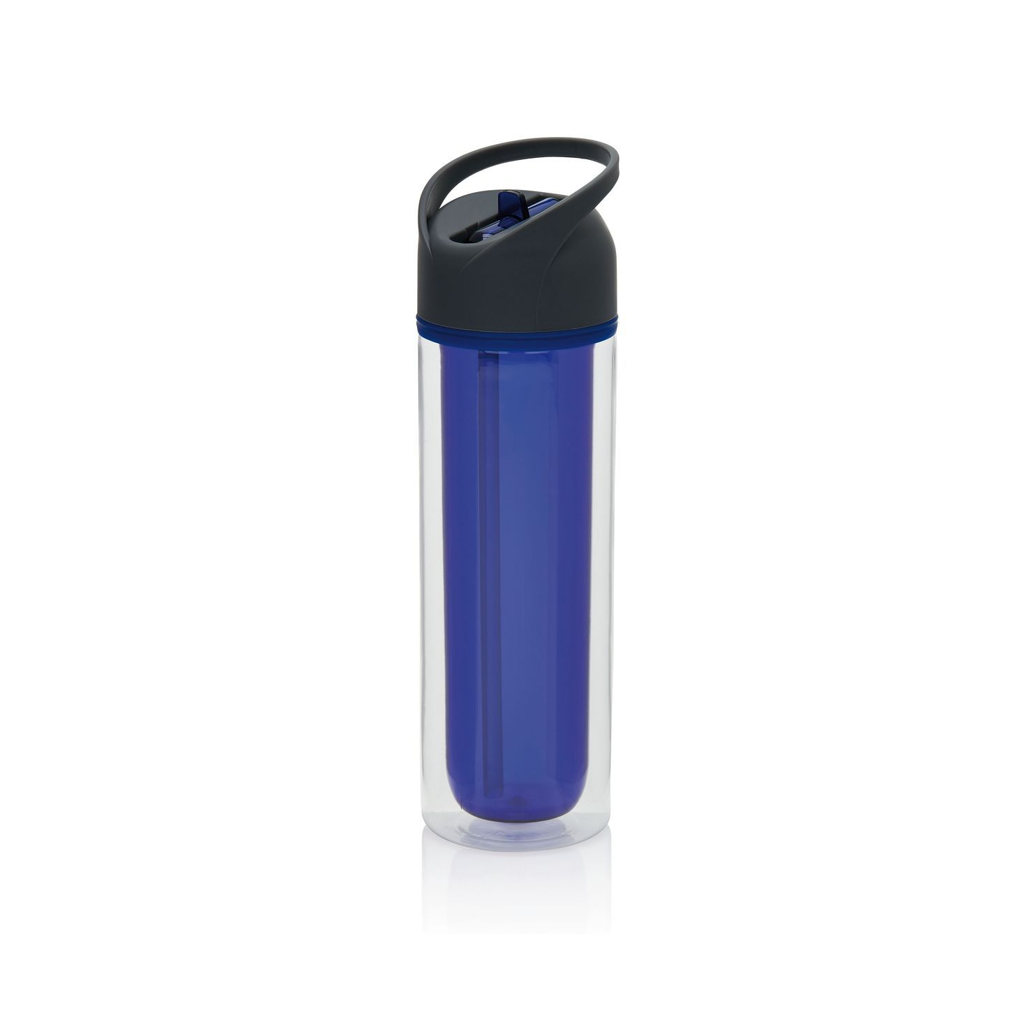 Blauwe Drinkfles | Dubbelwandig | 360 ml