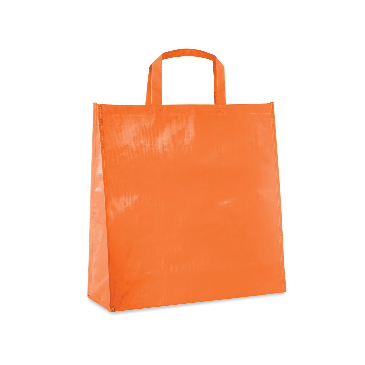 Oranje Shopper | PP geweven | Gelamineerd | 120 grams